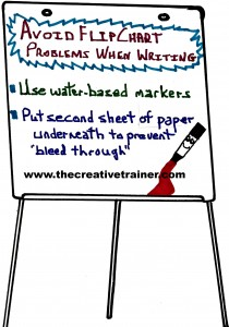 Avoid Problems When Writing on Flip Charts