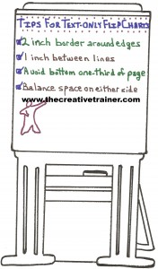 Four Tips for Creating Text-Only Flip Charts