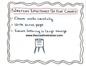 Three Tips for Writing Effectively on Flip Charts