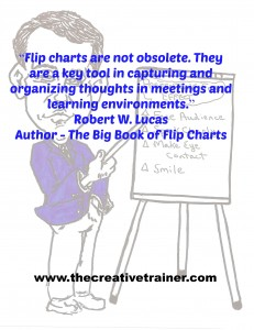 Flip Charts Remain a Creative Value-Added Tool for Learning