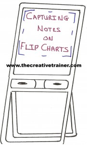 Capturing Notes in Meetings and Adult Learning Sessions with Flip Charts