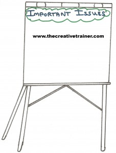 Creative Flip Chart Idea - Important Issues Page