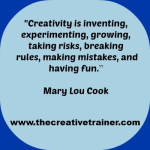 Creativity in Adult Learning Quote - Mary Lou Cook