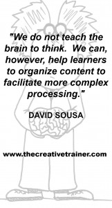 Quote About How The Brain Learns - David Sousa